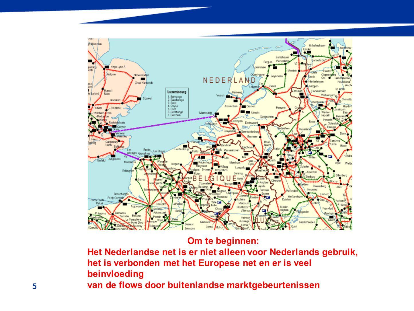 6 onzekere ontwikkelingen in internationaal elektriciteitsverkeer –veranderingen markt prijsontwikkeling brandstoffen verandering belasting door economische stagnatie mogelijk meer export vanuit Nederland –veranderingen actuele transporten andere productie inzet dag/nacht,seizoenen windopwekking DE, van 10 GW naar >30 GW in 5 jaar kabel FR/UK, van invloed op flows in NL-net hoge belasting FR, waardoor andere flows in DE en NL