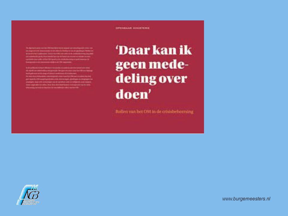 www.burgemeesters.nl Les: Als burgemeester kun je emoties kanaliseren (bijv.