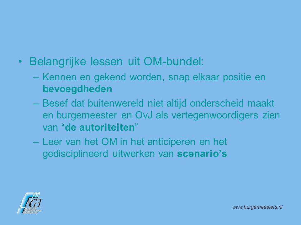 www.burgemeesters.nl Wat voor een gemeente een crisis lijkt, is voor het Openbaar Ministerie wellicht business as usual