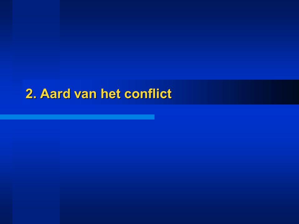 2. Aard van het conflict