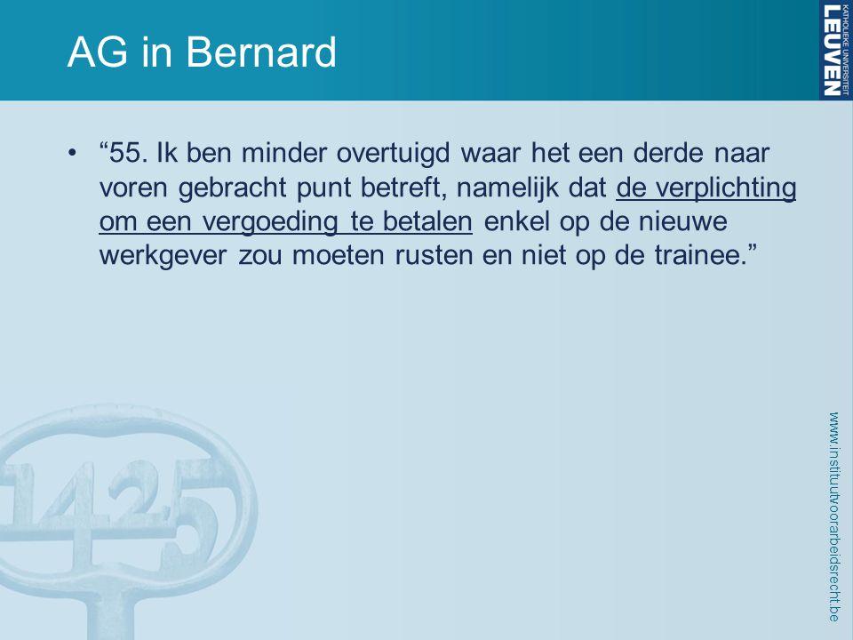 www.instituutvoorarbeidsrecht.be AG in Bernard • 55.