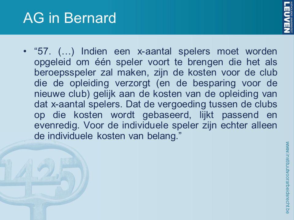 www.instituutvoorarbeidsrecht.be AG in Bernard • 57.