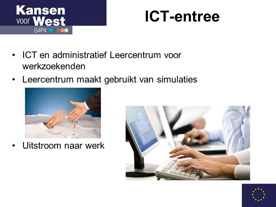 •ICT en administratief Leercentrum voor werkzoekenden •Leercentrum maakt gebruikt van simulaties •Uitstroom naar werk ICT-entree