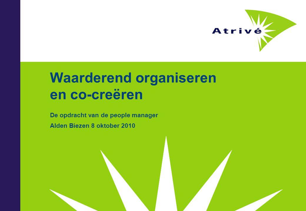 Waarderend organiseren en co-creëren De opdracht van de people manager Alden Biezen 8 oktober 2010