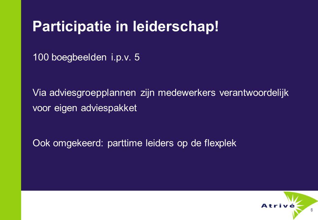 8 Participatie in leiderschap. 100 boegbeelden i.p.v.