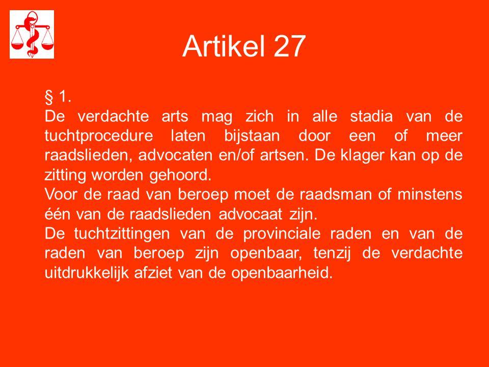 Artikel 27 § 1.