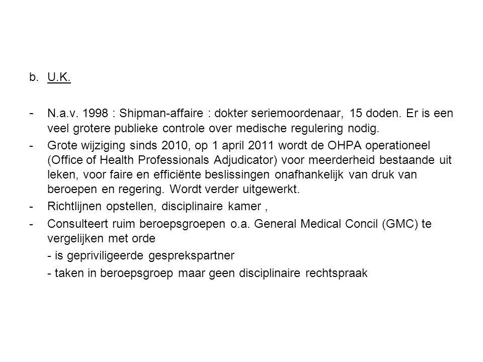 b.U.K. - N.a.v. 1998 : Shipman-affaire : dokter seriemoordenaar, 15 doden.