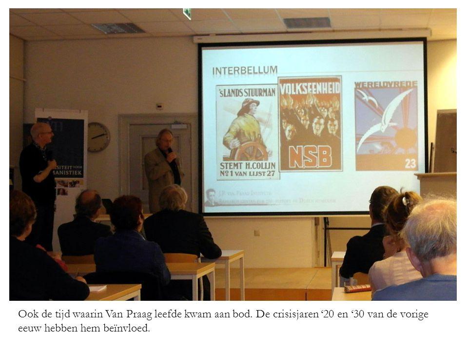 Ook de tijd waarin Van Praag leefde kwam aan bod.