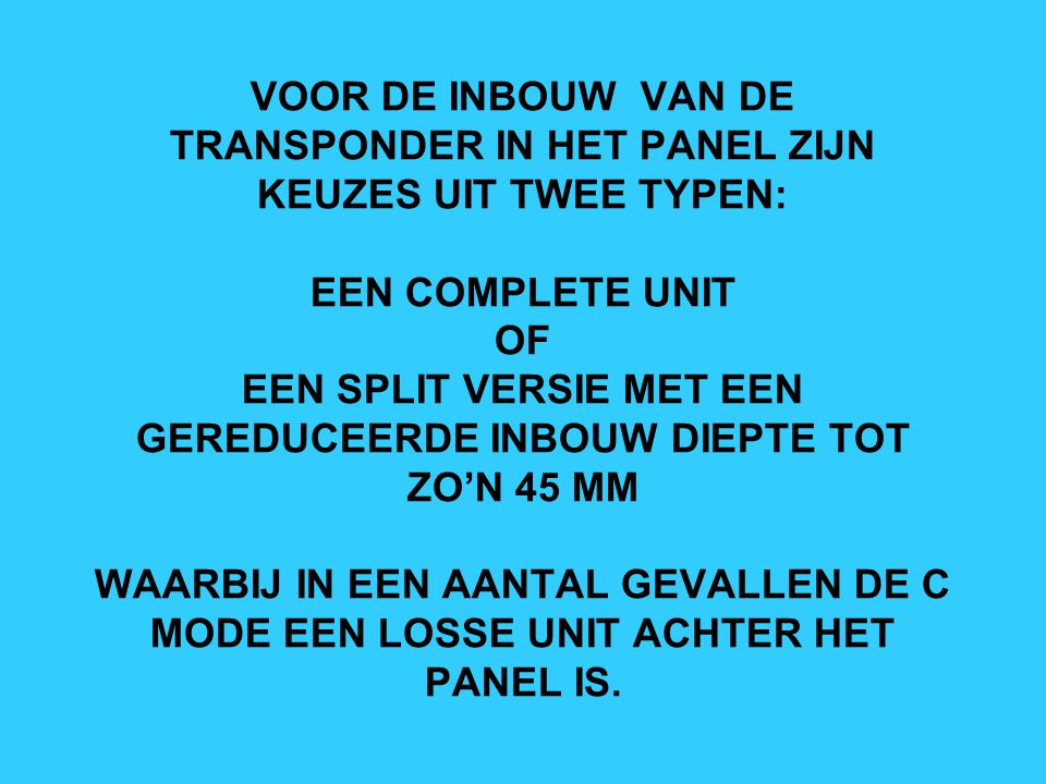 CI-101 TRANSPONDER ANTENNE
