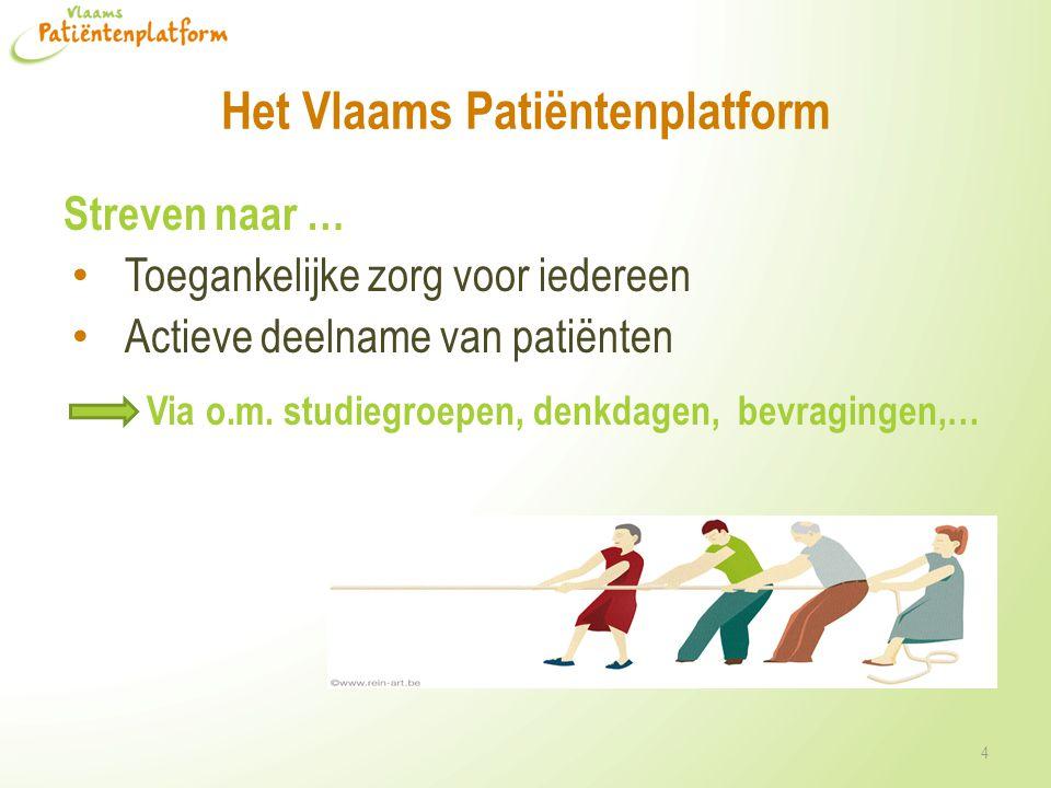 Het Vlaams Patiëntenplatform • Gemeenschappelijke noden aankaarten • Info geven over beleidsbeslissingen • Oplossingen zoeken in overleg met patiënten • Patiënten vertegenwoordigen op beleidsniveau • Thema's: verzekeringen, eHealth, onderwijs, werkgelegenheid, patiëntenrechten, medicatie,… 5