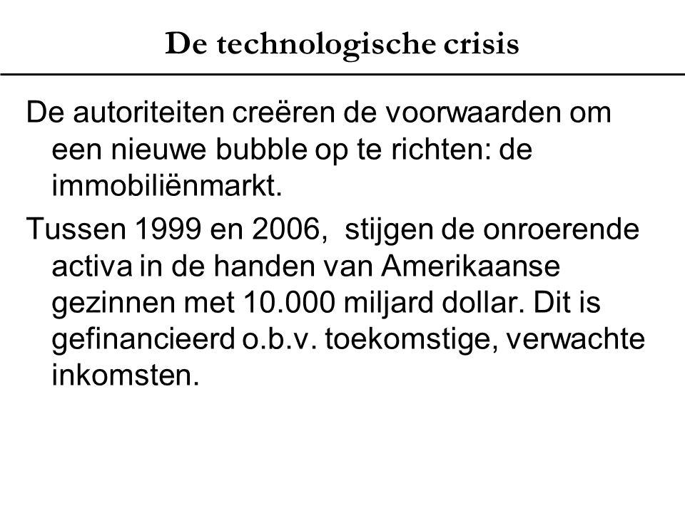 De technologische crisis De autoriteiten creëren de voorwaarden om een nieuwe bubble op te richten: de immobiliënmarkt. Tussen 1999 en 2006, stijgen d