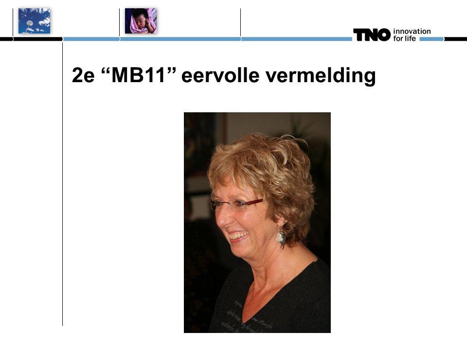 """2e """"MB11"""" eervolle vermelding"""