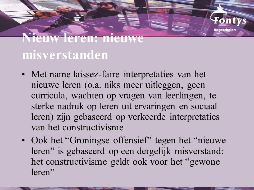 Naar nieuwe en krachtige leeromgevingen in po en vo (3) •3C leren: Concept-Context-Competentie (zie www.hetplatformberoepsonderwijs.nl).