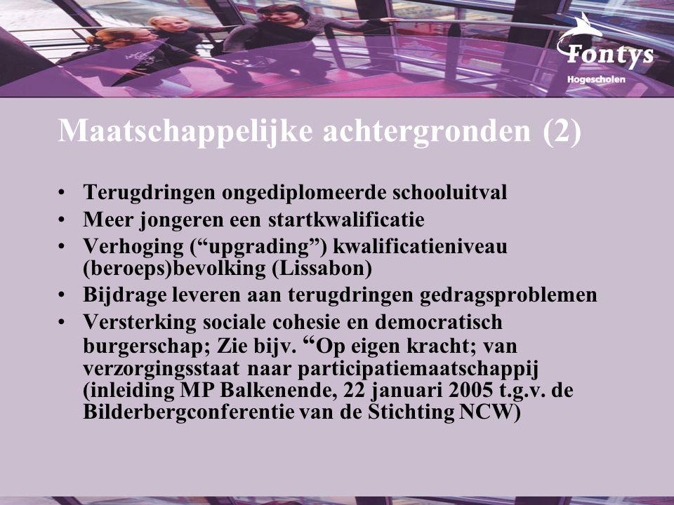 Bestuurlijk-politieke achtergronden: de vier (vijf) i.p.v.
