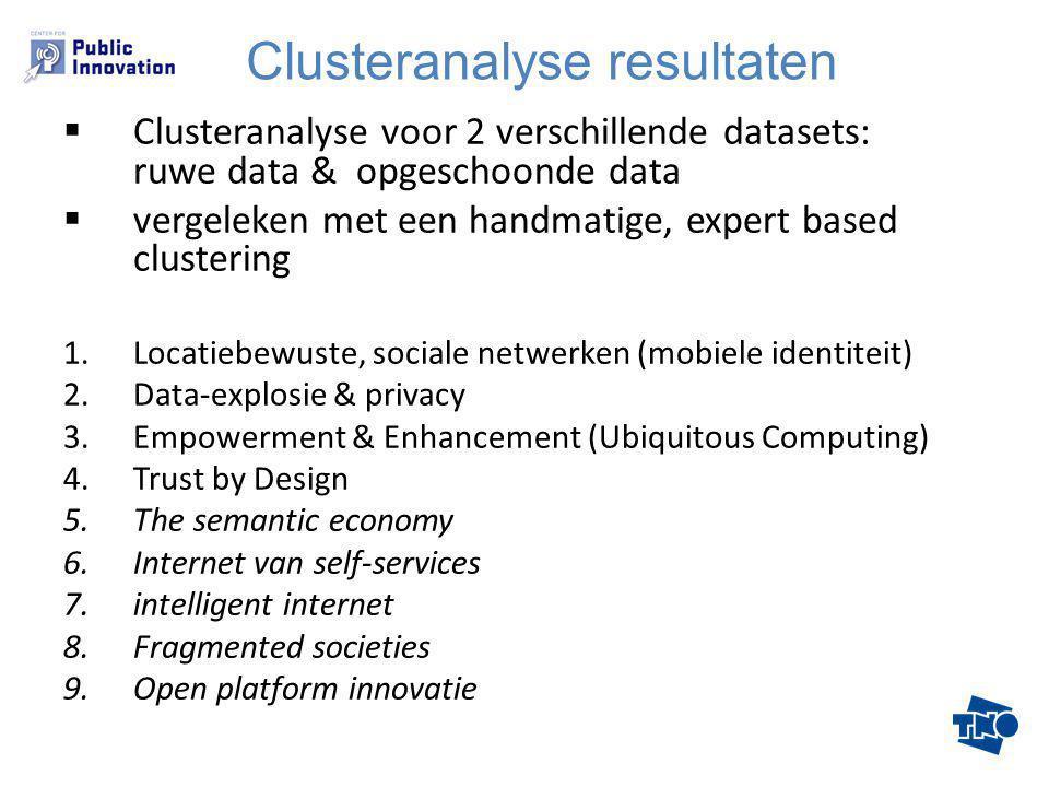 Knooppunten: - Mobiel internet - Location awareness - Internet of Things Beleidsdocumenten, Maturity = high