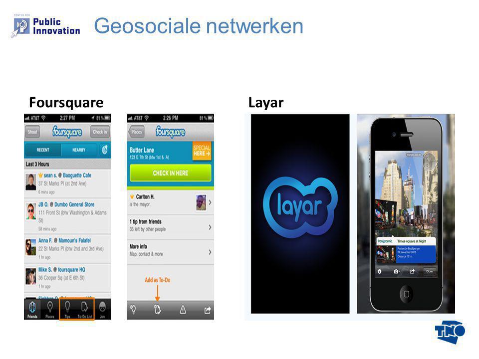 FoursquareLayar Geosociale netwerken