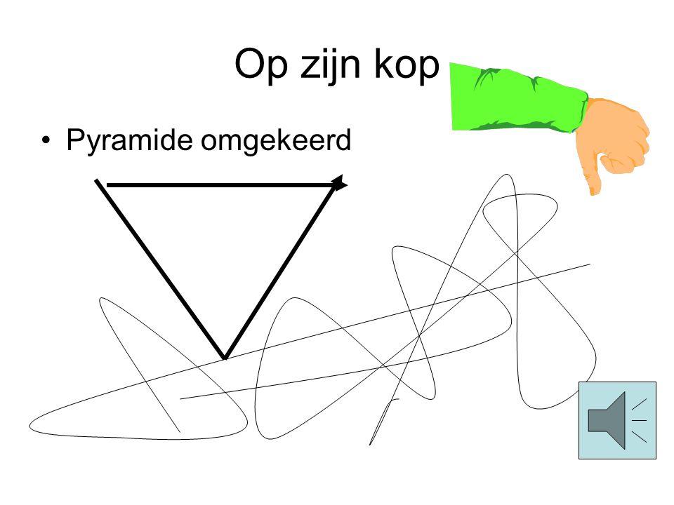 Op zijn kop •Pyramide omgekeerd