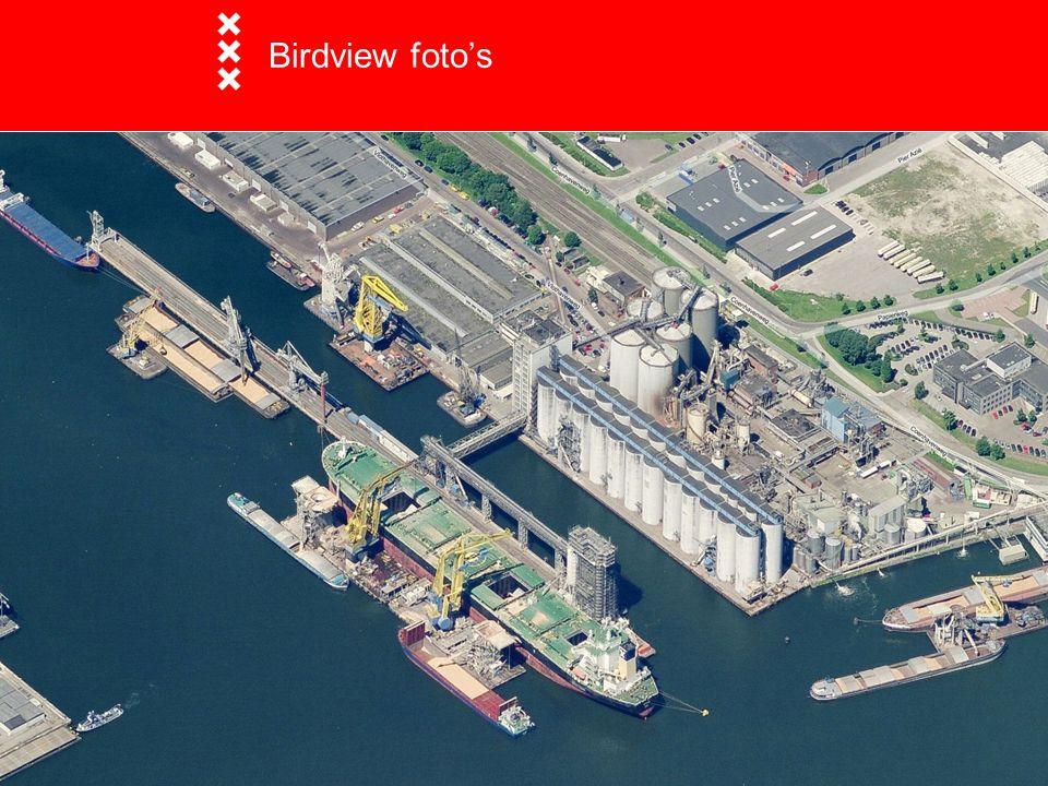 Birdview foto's  Birdview foto's Opname met 5 camera's. Eén loodrecht naar beneden en 4 gerichte camera's