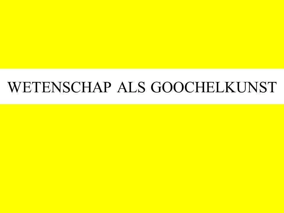WETENSCHAP ALS GOOCHELKUNST