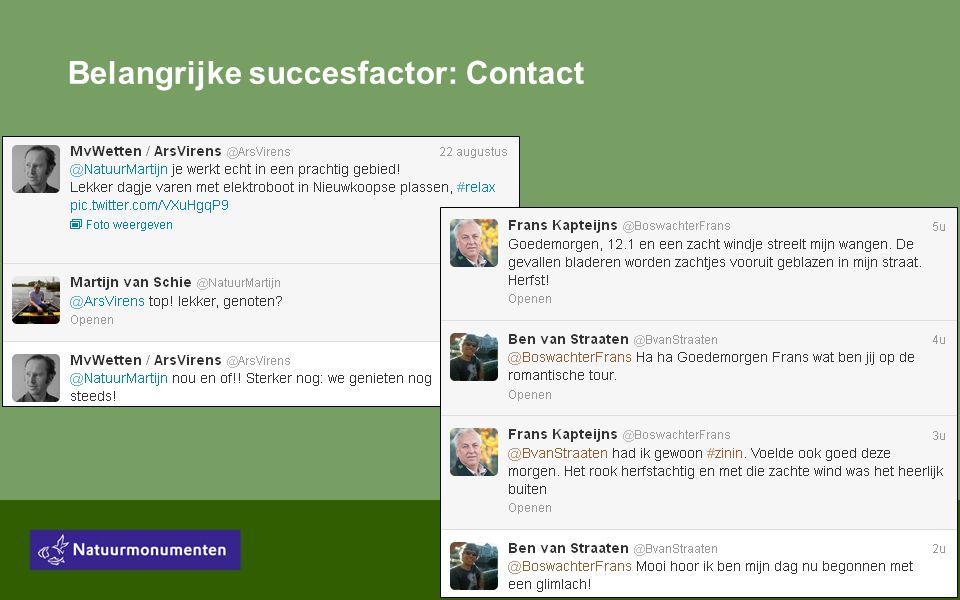 Belangrijke succesfactor: Contact