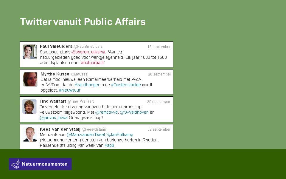 Twitter vanuit Public Affairs