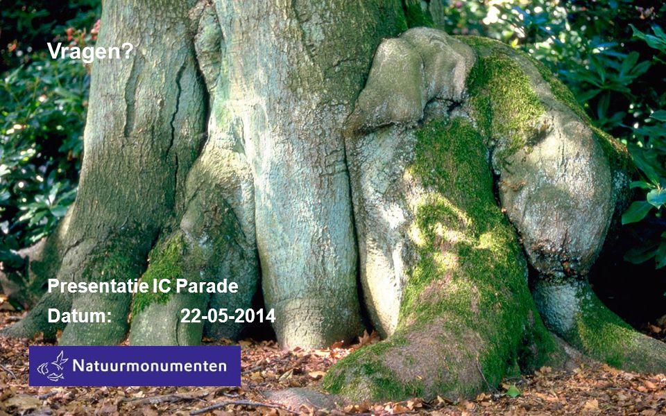 Vragen Presentatie IC Parade Datum:22-05-2014