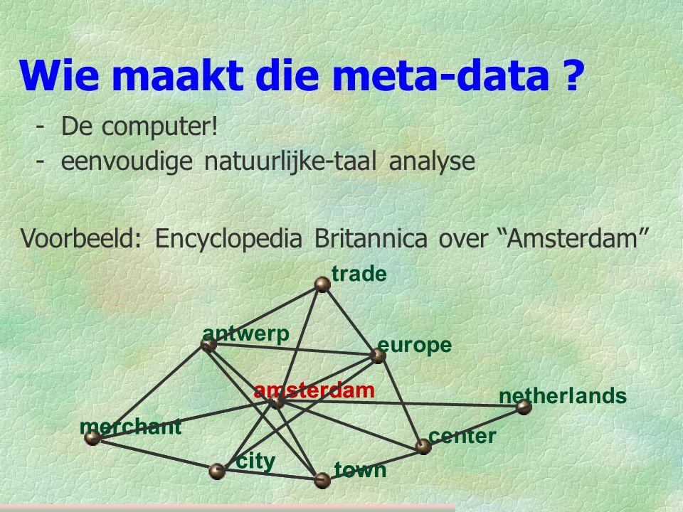 Wie maakt die meta-data . -De computer.