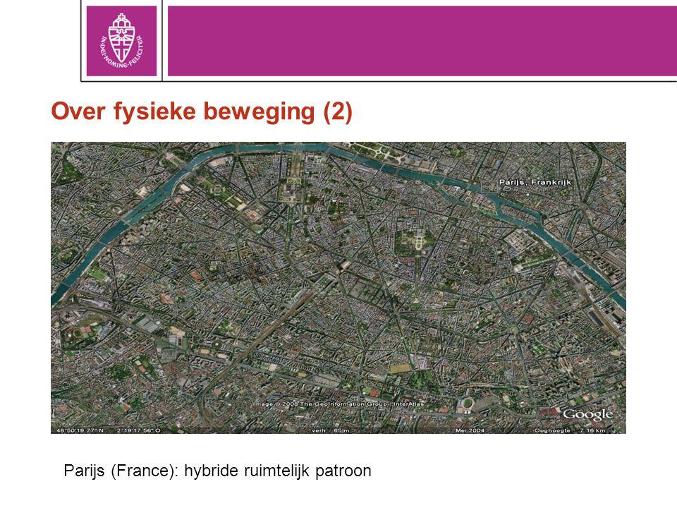 Over fysieke beweging (2) Parijs (France): hybride ruimtelijk patroon