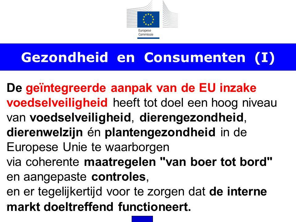 Gezondheid en Consumenten (I) De geïntegreerde aanpak van de EU inzake voedselveiligheid heeft tot doel een hoog niveau van voedselveiligheid, diereng