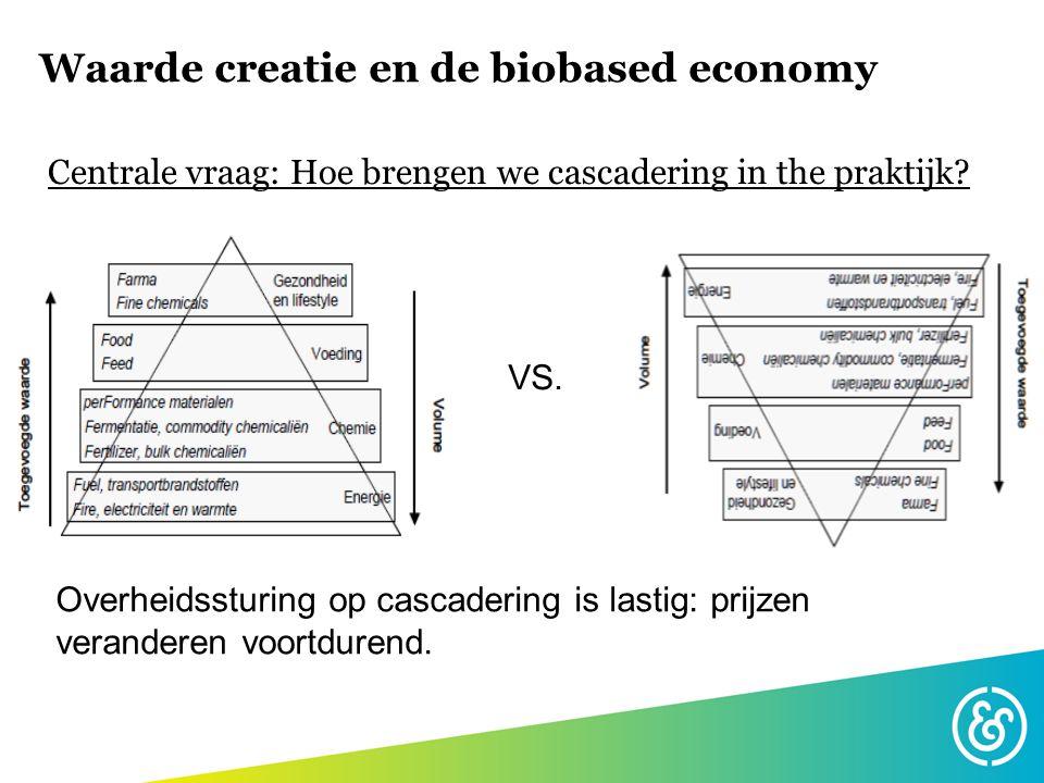 Wat is de definitie van waarde.•Cascadering op basis van hoogste economische waarde.