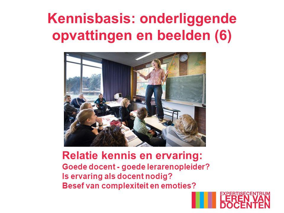 Relatie kennis en ervaring: Goede docent - goede lerarenopleider.