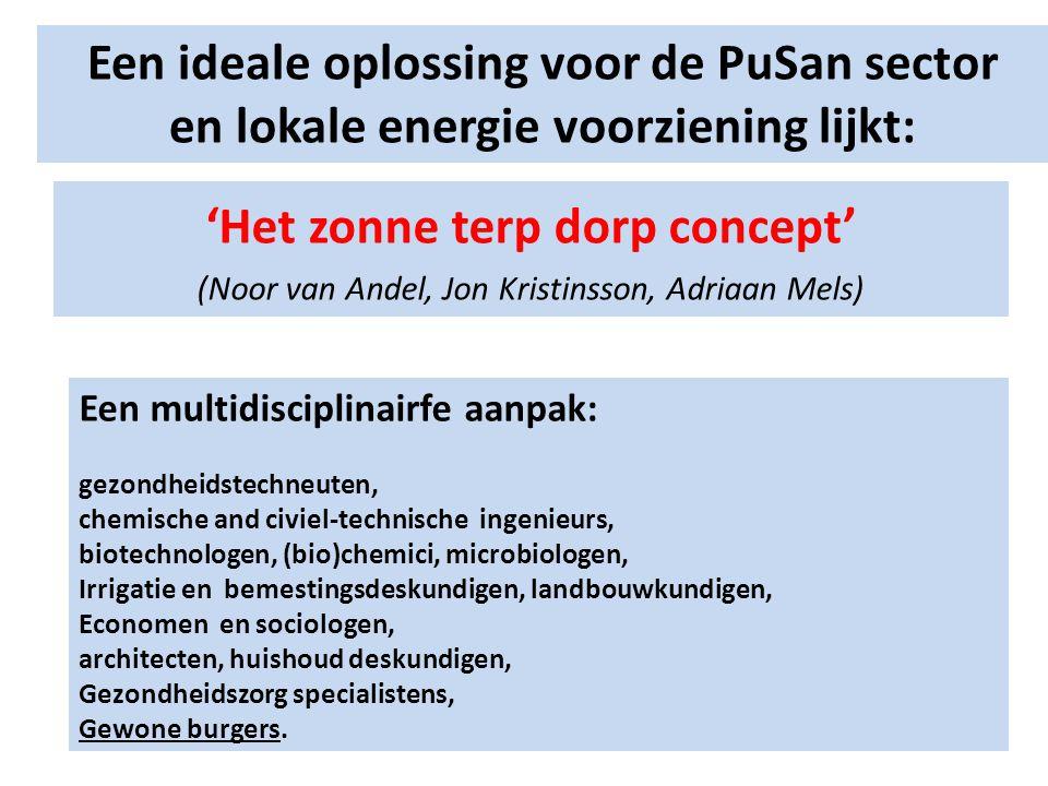 Een ideale oplossing voor de PuSan sector en lokale energie voorziening lijkt: 'Het zonne terp dorp concept' (Noor van Andel, Jon Kristinsson, Adriaan
