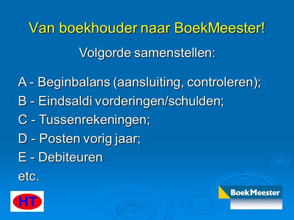 Van boekhouder naar BoekMeester.