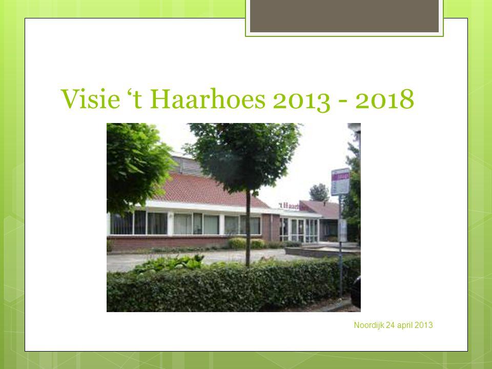 Visie 't Haarhoes 2013 - 2018 Noordijk 24 april 2013