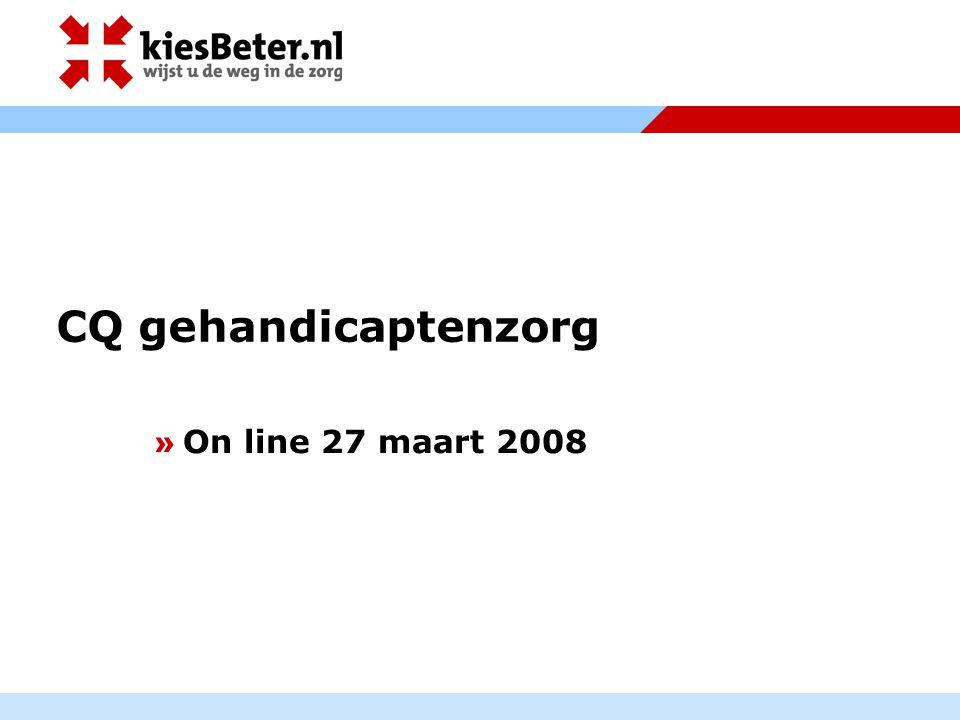CQ gehandicaptenzorg » On line 27 maart 2008