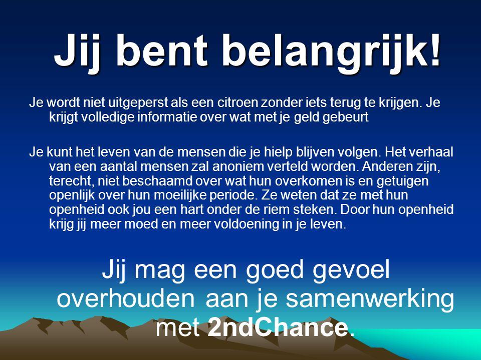 2nd Chance Stichting van Openbaar Nut Langelostraat 37, 3212 Pellenberg +32 (0)475.70.76.98.