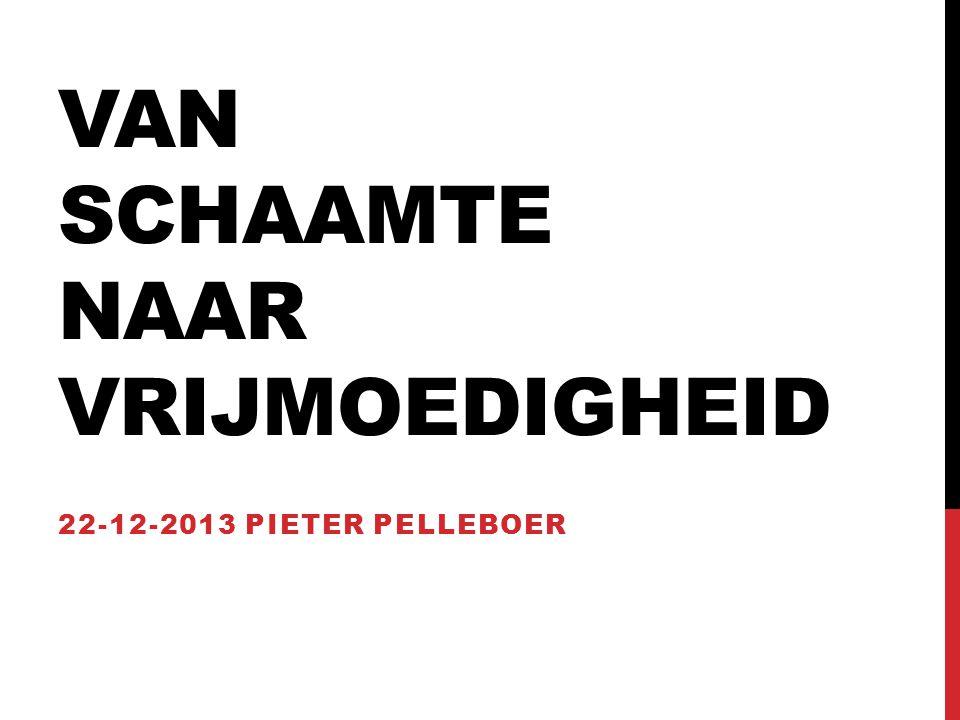 VAN SCHAAMTE NAAR VRIJMOEDIGHEID 22-12-2013 PIETER PELLEBOER