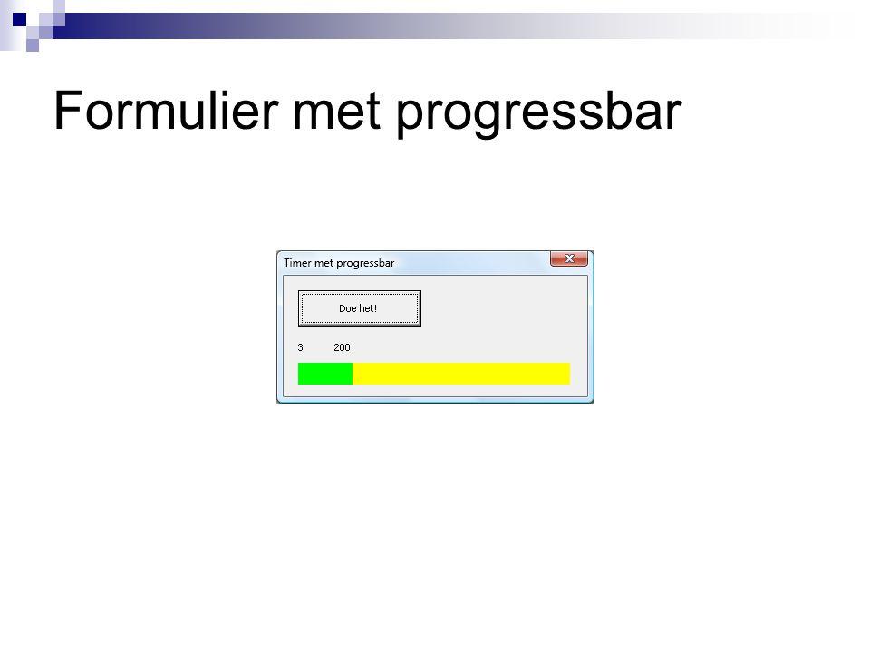 Formulier met progressbar