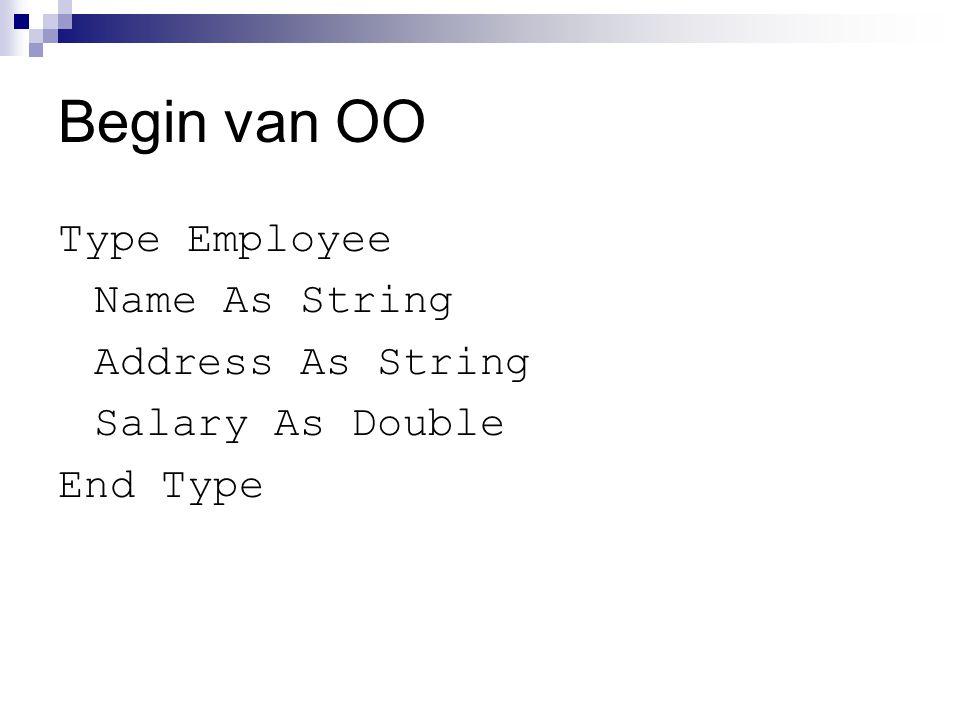 Eigenschappen - I P ublic strNaam As String  In klassemodule (bijv.