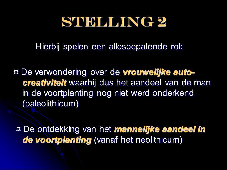 Stelling 2 Hierbij spelen een allesbepalende rol: Hierbij spelen een allesbepalende rol: ¤ De verwondering over de vrouwelijke auto- creativiteit waar