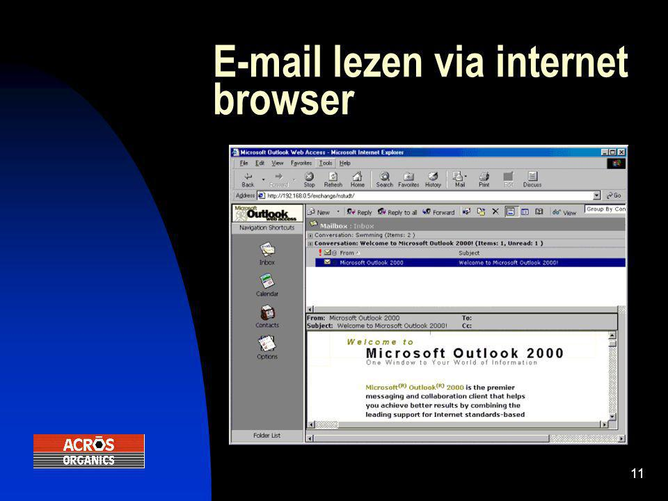11 E-mail lezen via internet browser