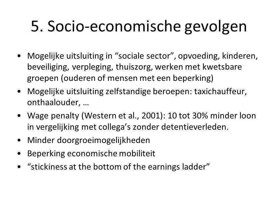 """5. Socio-economische gevolgen •Mogelijke uitsluiting in """"sociale sector"""", opvoeding, kinderen, beveiliging, verpleging, thuiszorg, werken met kwetsbar"""