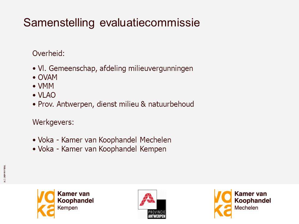 Voka model 2 4 Samenstelling evaluatiecommissie Overheid: • Vl.
