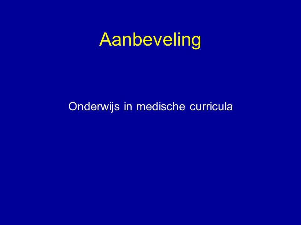 Aanbeveling Onderwijs in medische curricula