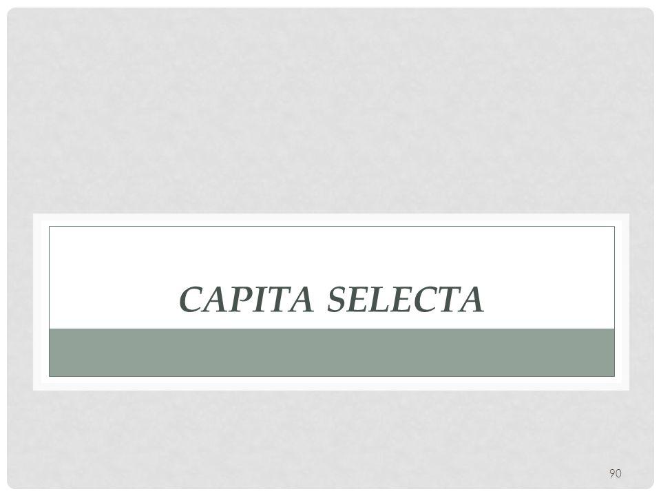 90 CAPITA SELECTA