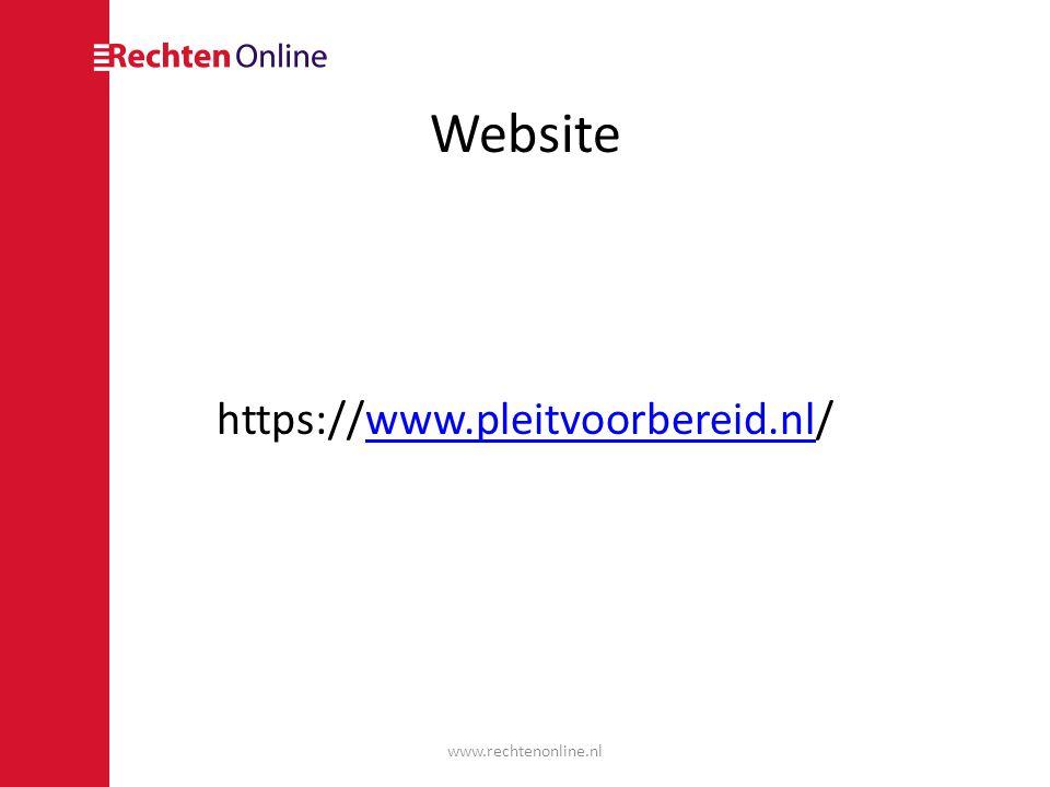 Website https://www.pleitvoorbereid.nl/www.pleitvoorbereid.nl www.rechtenonline.nl