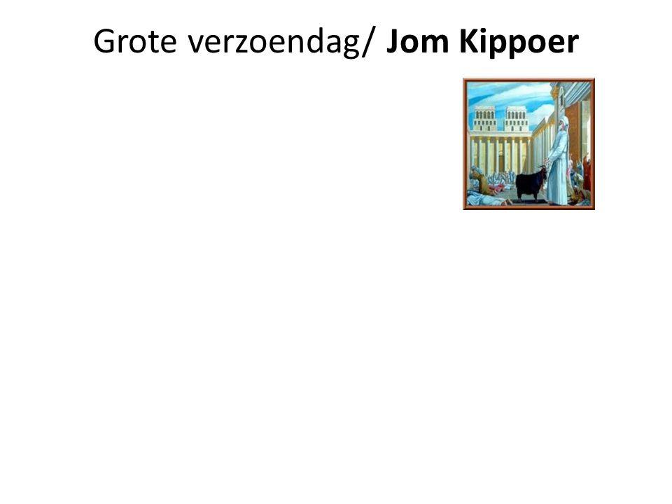 Grote verzoendag/ Jom Kippoer