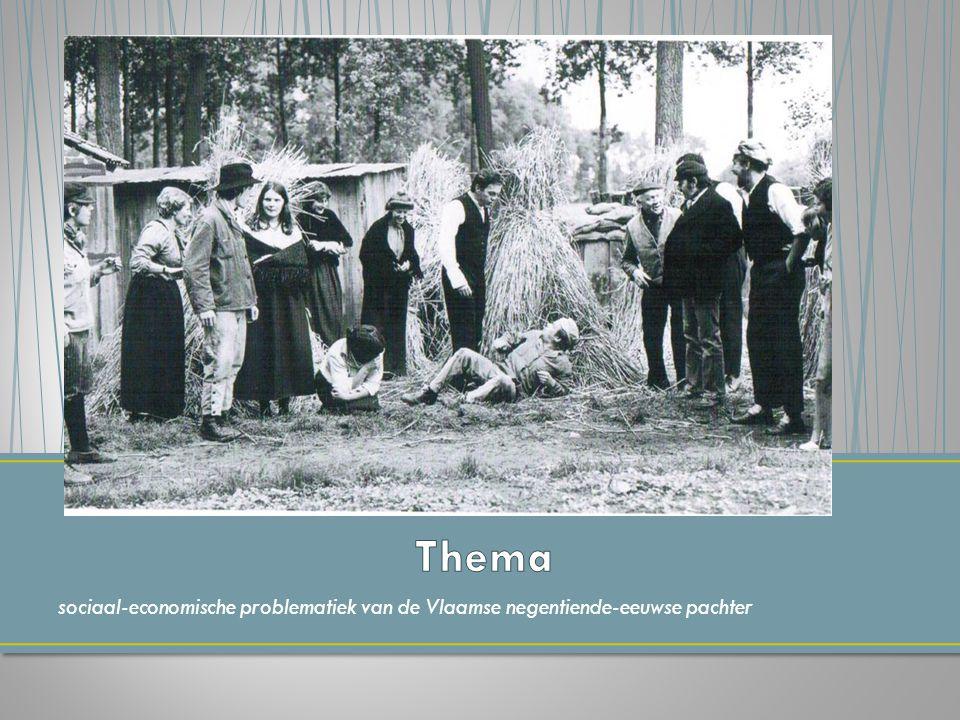 sociaal-economische problematiek van de Vlaamse negentiende-eeuwse pachter