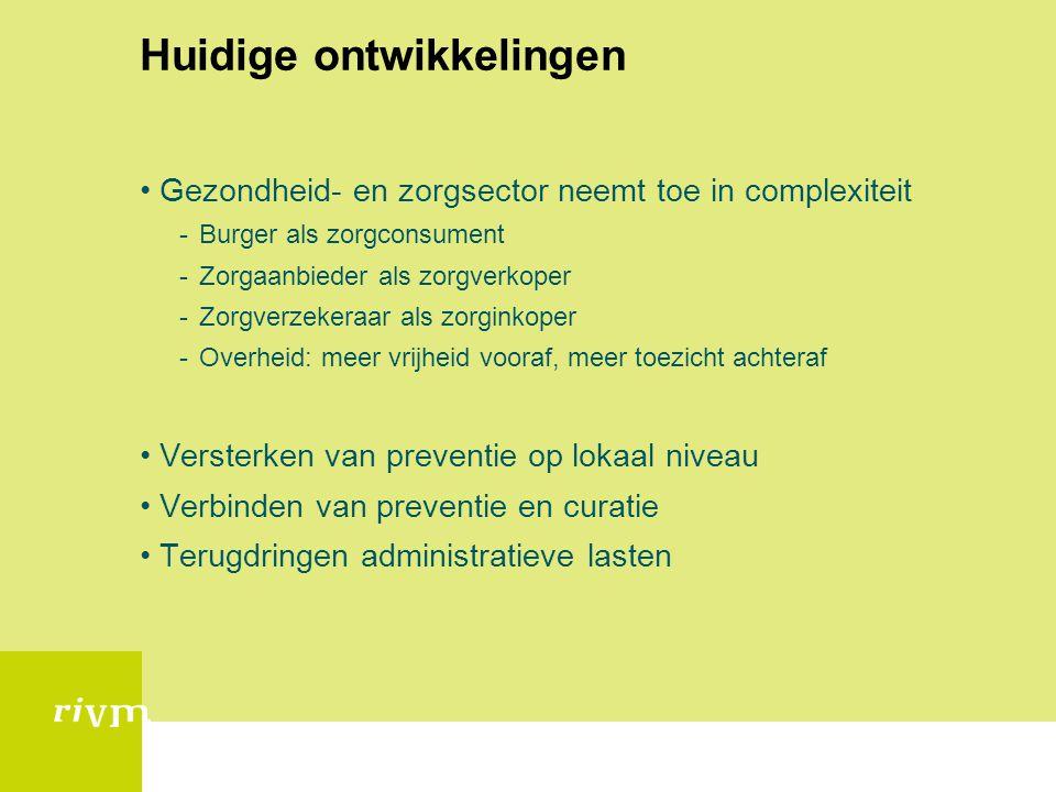 VTV 2010 •Aandacht voor de gevolgen van ziekte(n) •Clustering van gedrag •Gezondheidsachterstanden nog steeds groot •Invloed van omgeving als mogelijk aangrijpingpunt •Vanuit het probleem handelen: IGB