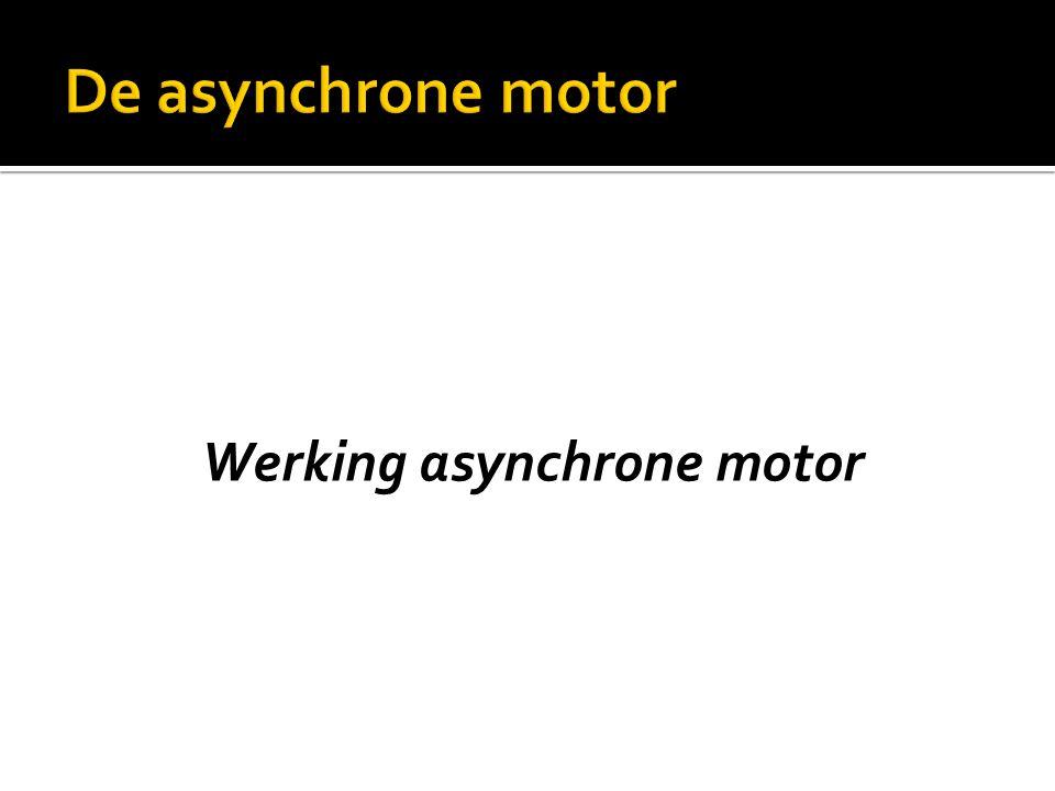Werking asynchrone motor